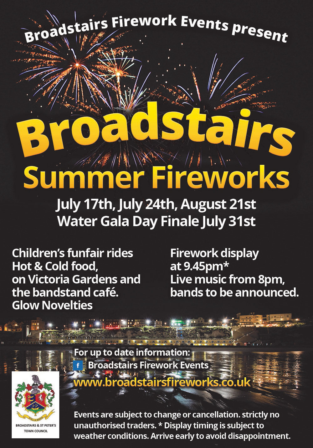 Broadstairs Fireworks Poster